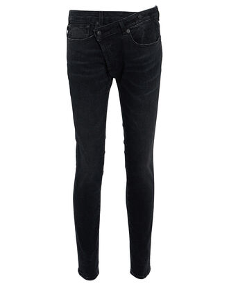 Crossover Skinny Jeans, BLACK DENIM, hi-res