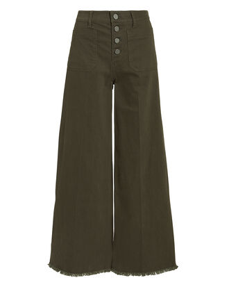 Carmine Wide Leg Jeans, OLIVE/ARMY, hi-res