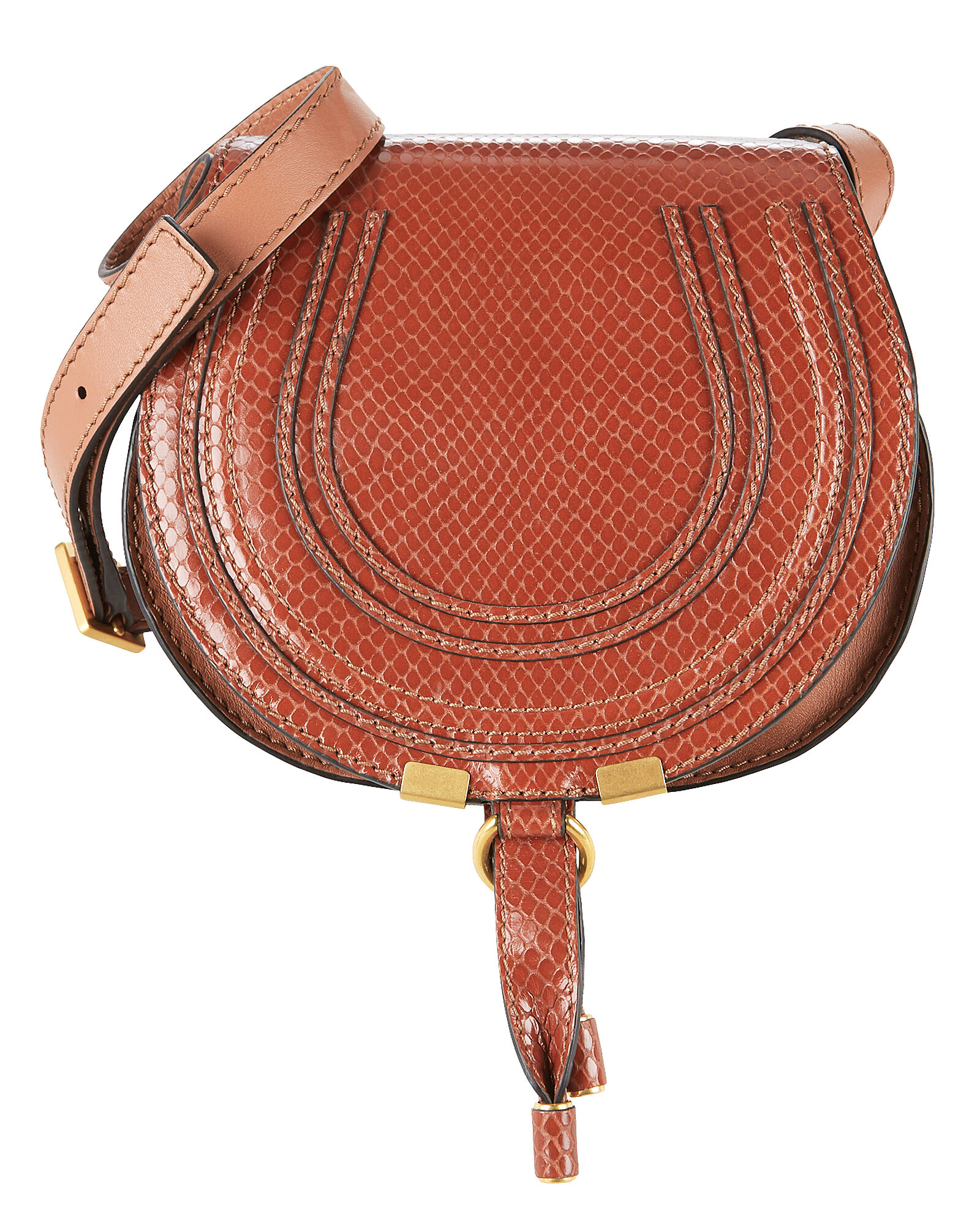 Marcie Snake Print Brown Crossbody Bag