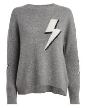 Virgo Lightning Bolt Sweater, GREY, hi-res