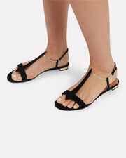 Vogue Flat Sandals, BLACK, hi-res