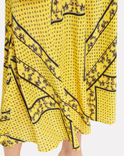 Mix Print Midi Skirt, YELLOW, hi-res