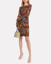 Georgia Floral Crepe Dress, BLACK/FLORAL, hi-res