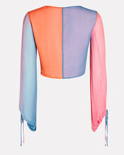 Blossom Colorblock Crop Top, PINK/ORANGE, hi-res
