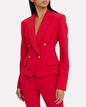 Hendrick Double Breasted Blazer, RED, hi-res