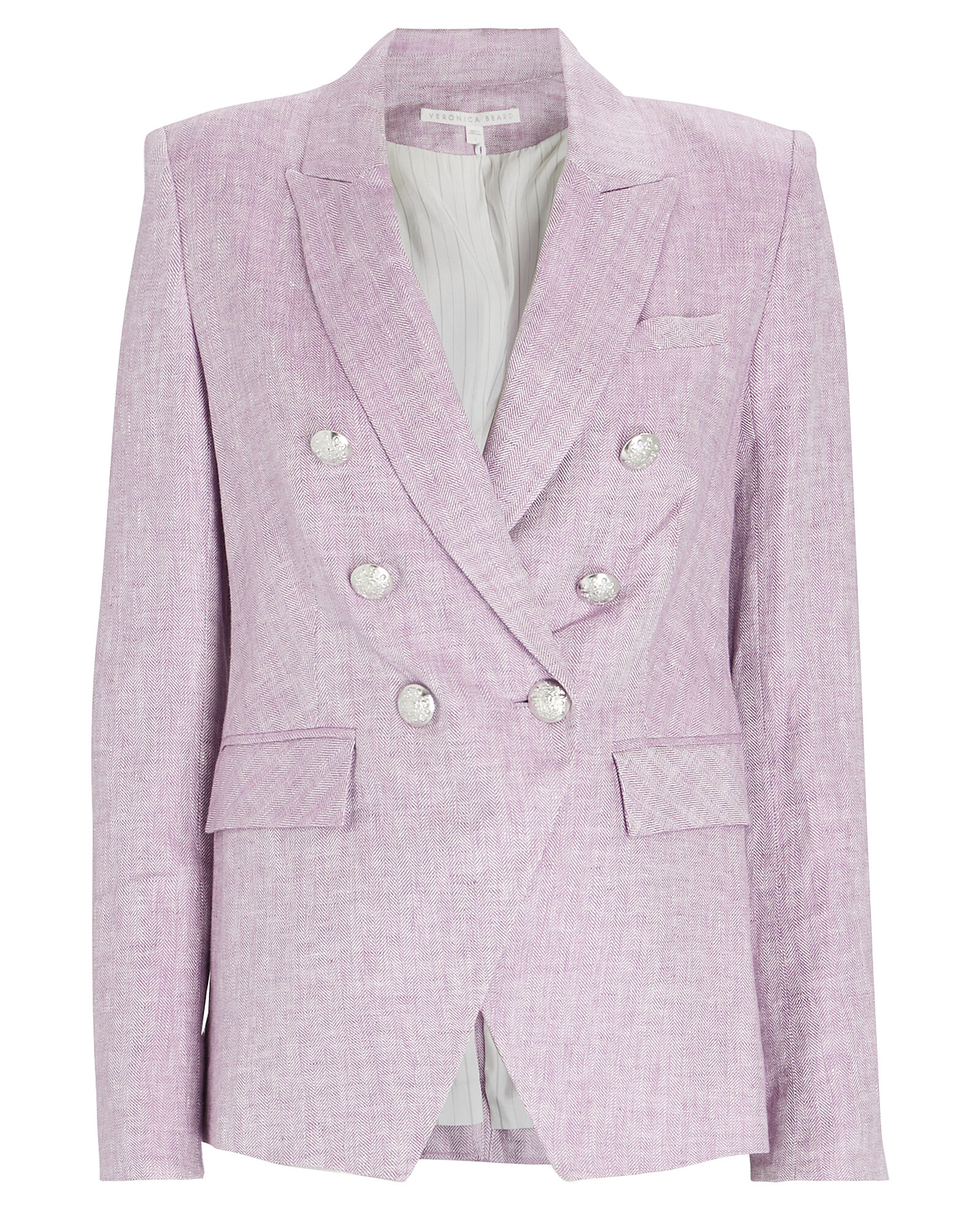 Miller Double-Breasted Dickey Blazer, PURPLE, hi-res