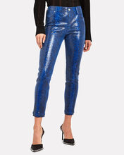 Prince Python-Embossed Leather Pants, BLUE PYTHON, hi-res