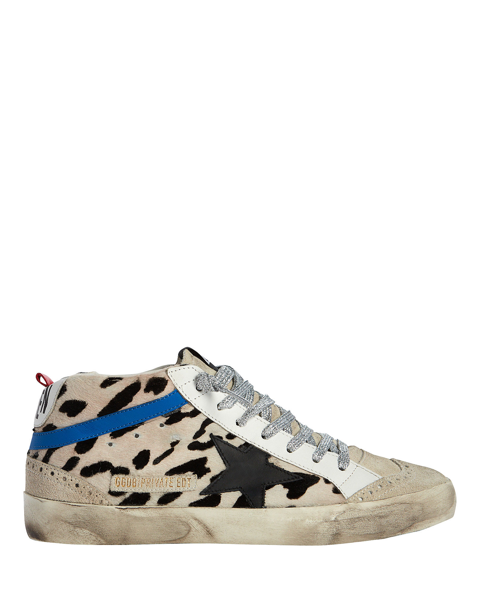 Mid Star Calf Hair Sneakers, GREY, hi-res