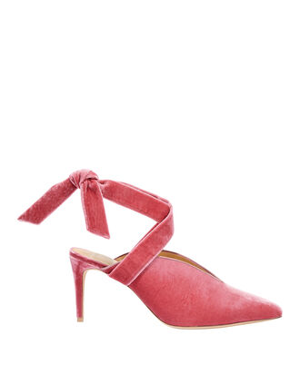 Sally Velvet Wrap Pumps, PINK, hi-res