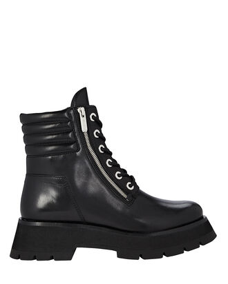 Kate Lug Sole Combat Boots, BLACK, hi-res