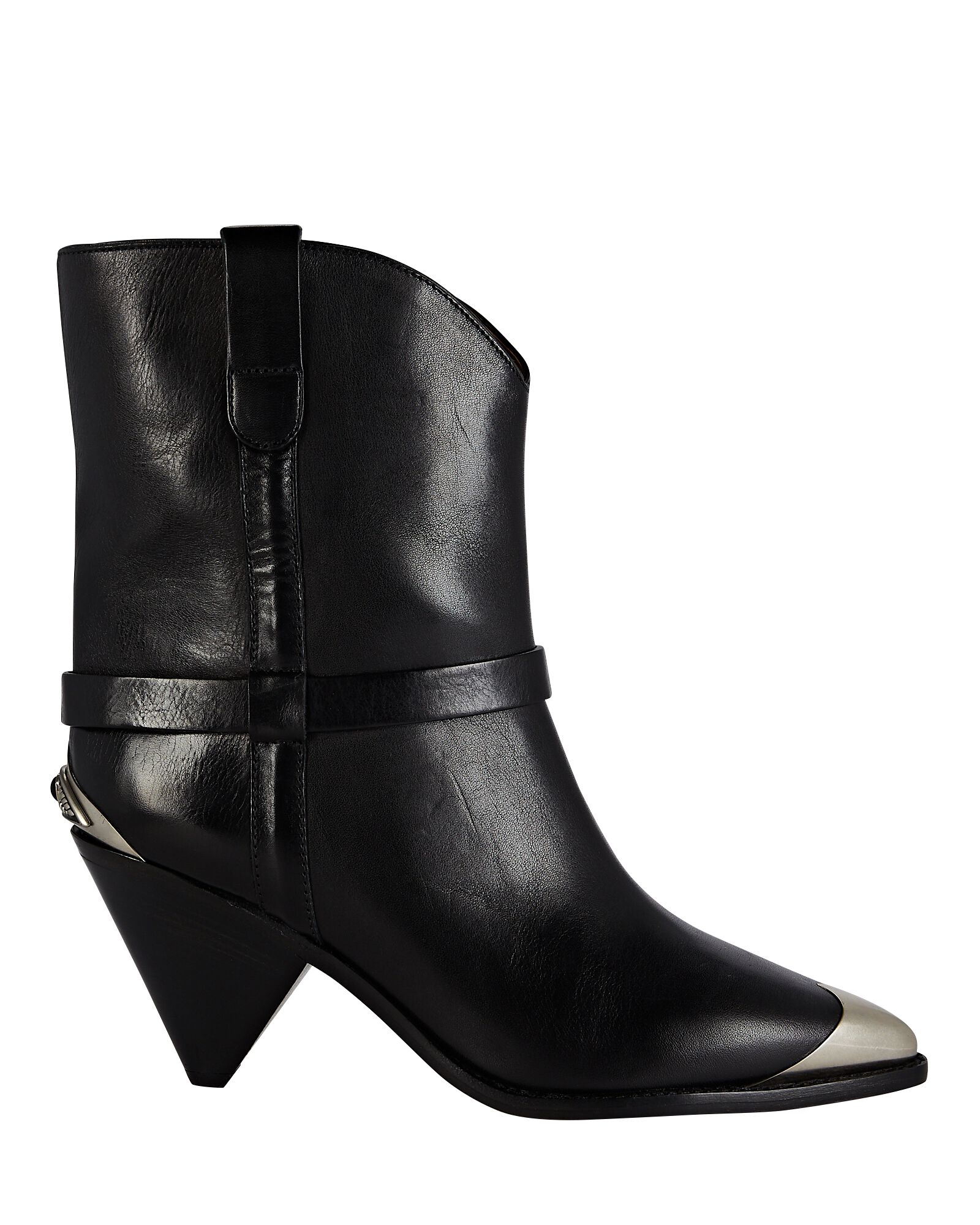 Limza Leather Ankle Boots, BLACK, hi-res