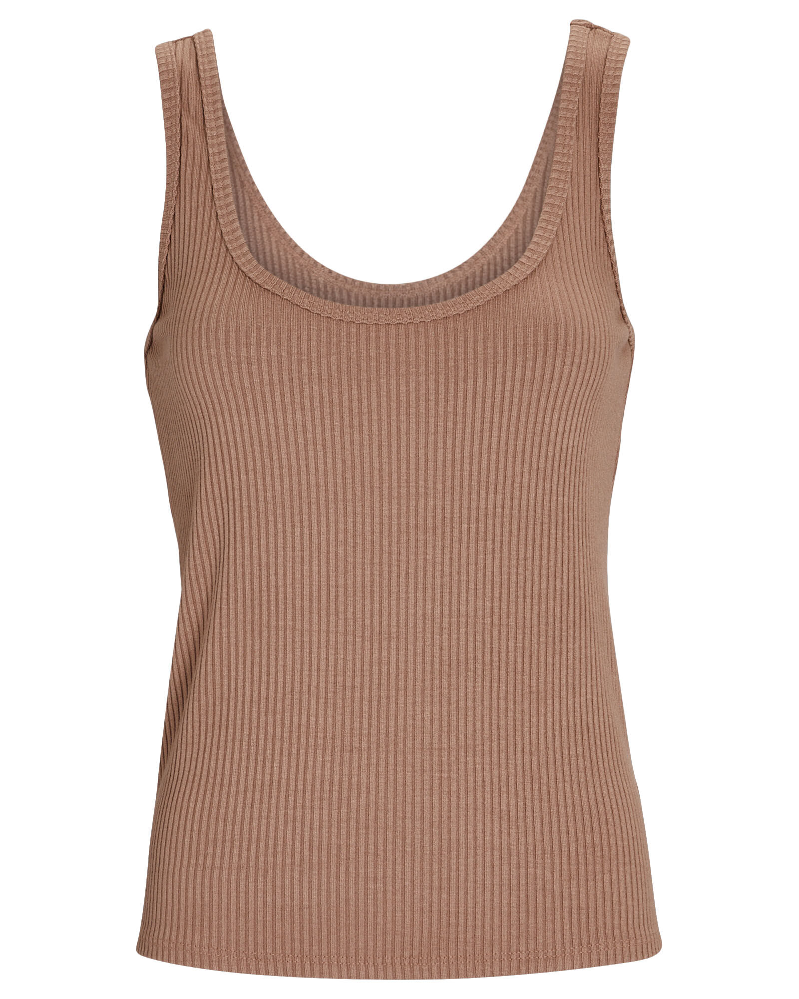 Iman Rib Knit Tank Top, BEIGE, hi-res