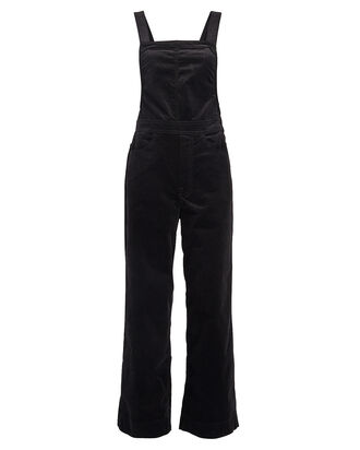 The Greaser Ankle Velvet Overalls, BLACK, hi-res