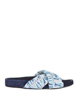 Holden Tie-Dye Slide Sandals, LIGHT BLUE, hi-res
