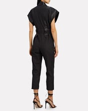 Cotton Tie-Waist Jumpsuit, BLACK, hi-res