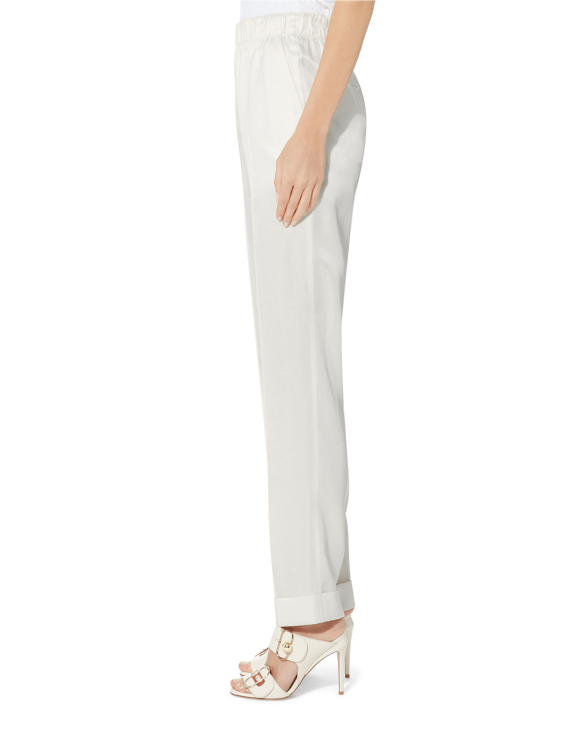 Ivory Pull-On Suiting Pants, IVORY, hi-res
