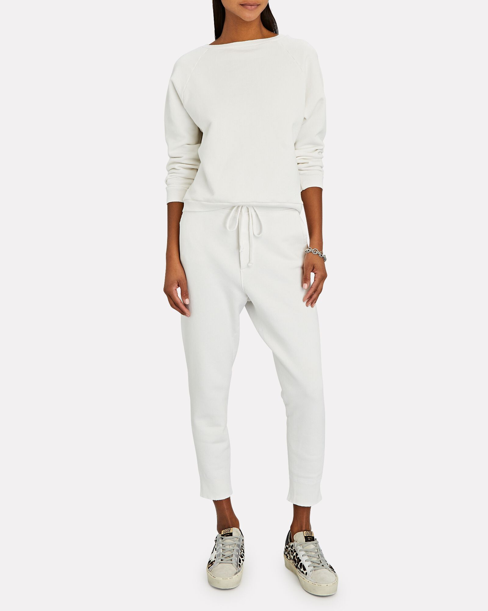 Nolan Cotton Terry Joggers, IVORY, hi-res