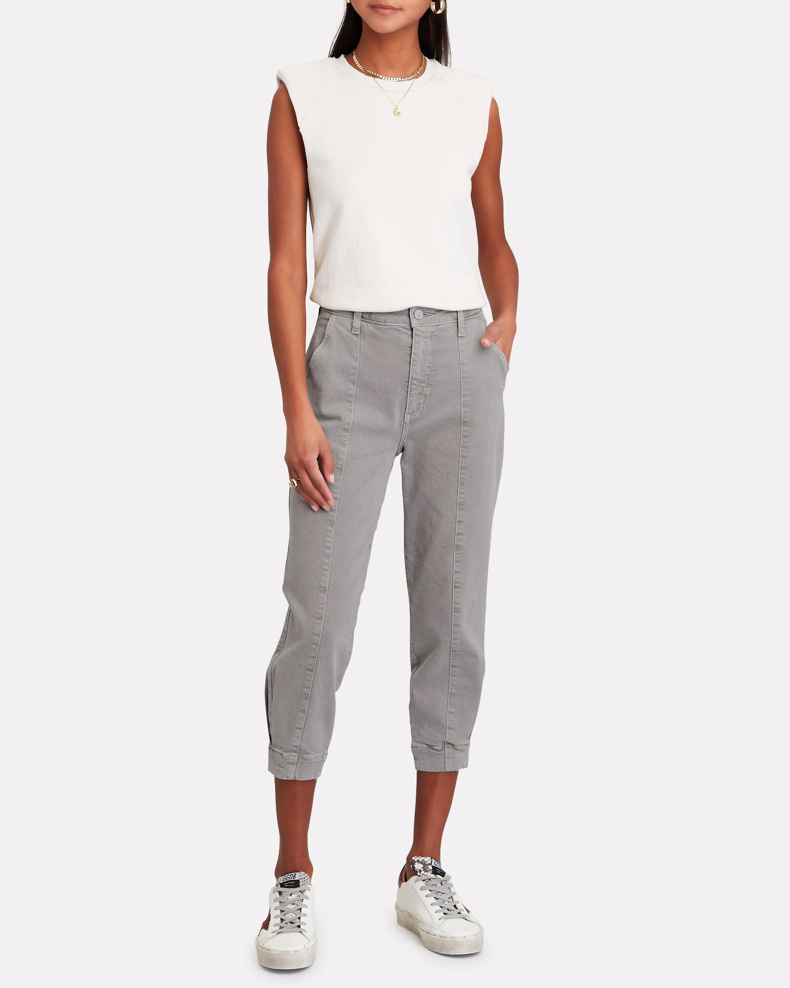 Paloma Cropped Jogger Jeans, TAUPE, hi-res