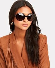 Oversized Oval Sunglasses, BROWN, hi-res