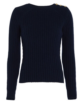 Beatrix Ribbed Wool-Cashmere Sweater, NAVY, hi-res