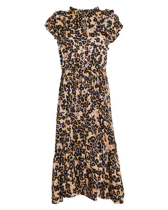 Duff Leopard Tie Waist Dress, MULTI, hi-res