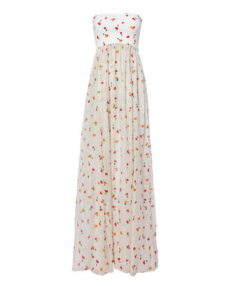 Mary Floral Maxi Dress, WHITE/FLORAL, hi-res