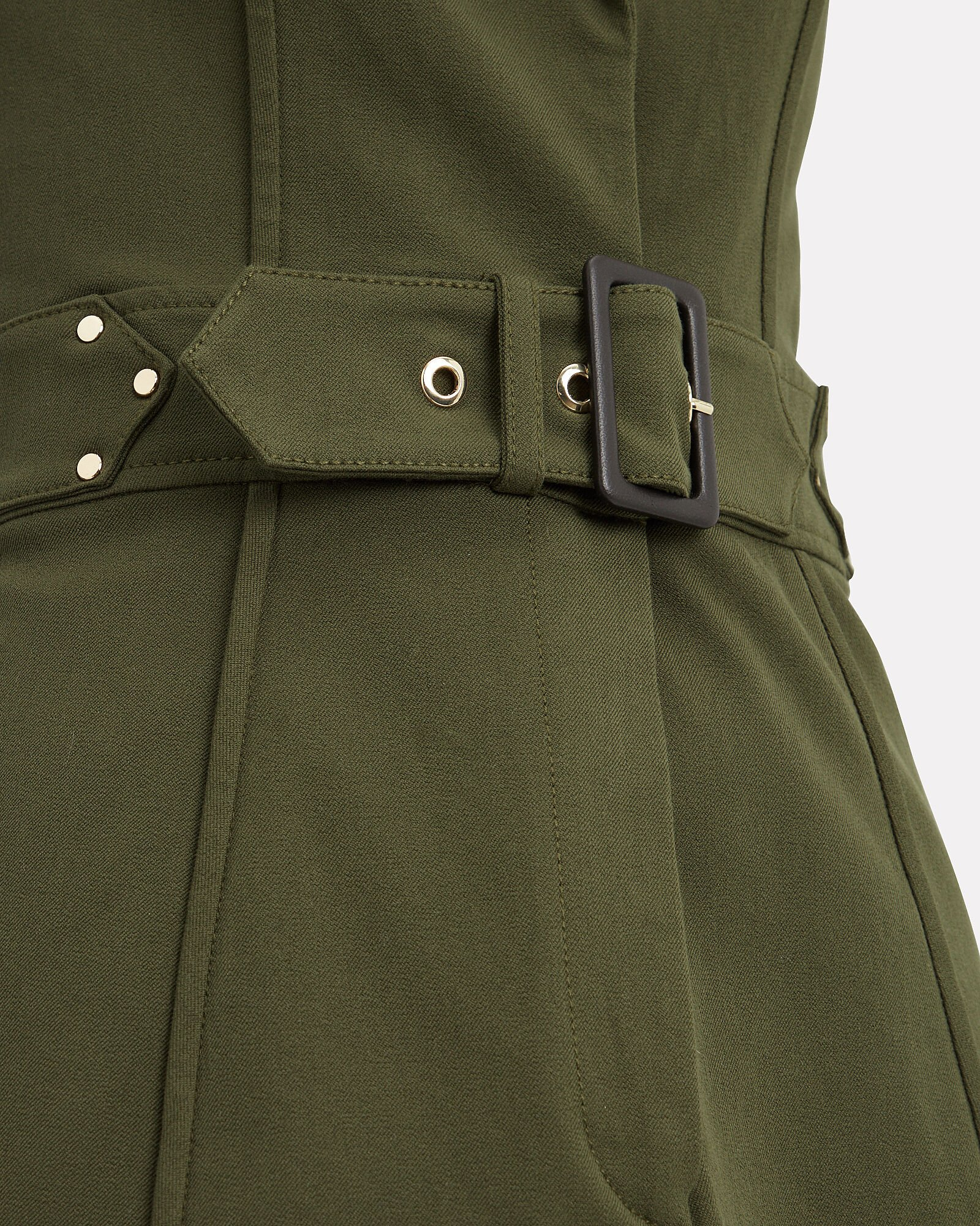 Army Belted Trench Dress, GREEN, hi-res