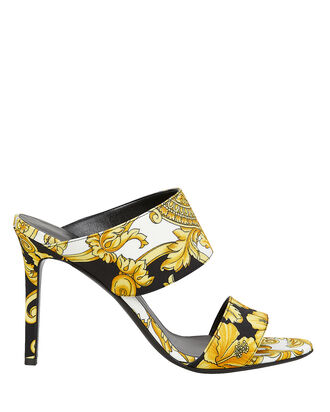 Baroque Stiletto Slides, BLACK/GOLD, hi-res