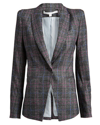 Brock Plaid Dickey Blazer, GREY/PLAID, hi-res