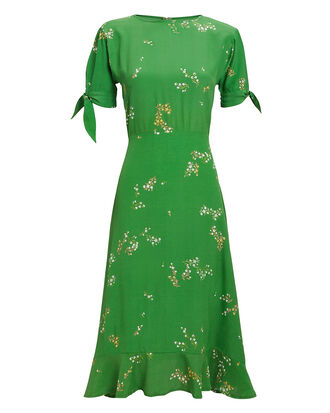 Emilia Floral Midi Dress, GREEN FLORAL, hi-res