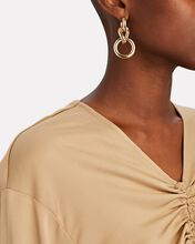 Lunes Chain Drop Earrings, GOLD, hi-res