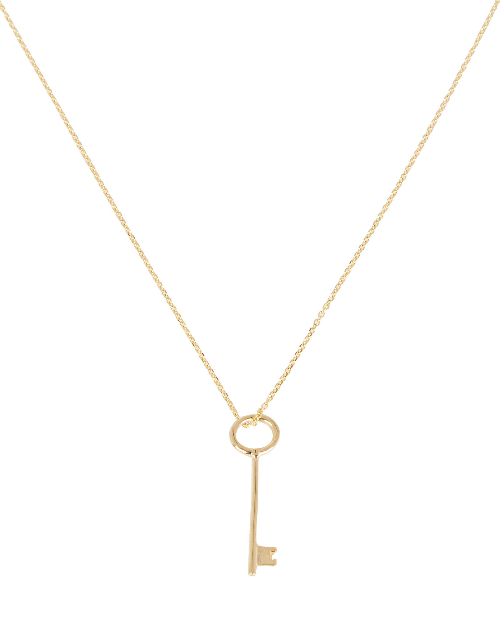Secret Key Pendant Necklace, GOLD, hi-res