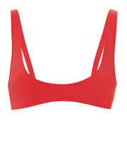 Laeti U-Neck Bikini Top, RED, hi-res