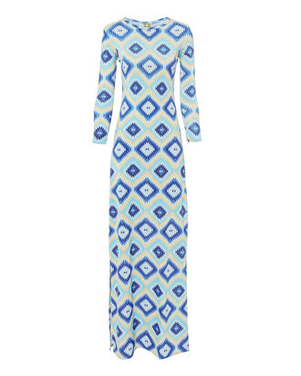 Evissa Geo Print Maxi Dress, MULTI, hi-res