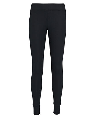 Rib Knit Micro Modal Leggings, BLACK, hi-res