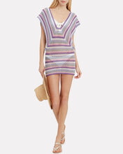 Mimosa Crochet Mini Dress, PINK/LAVENDER, hi-res
