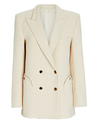 Missy Everynight Double-Breasted Blazer, IVORY, hi-res