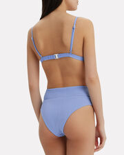 Susana Lace-Up Bikini Bottom, PERIWINKLE, hi-res