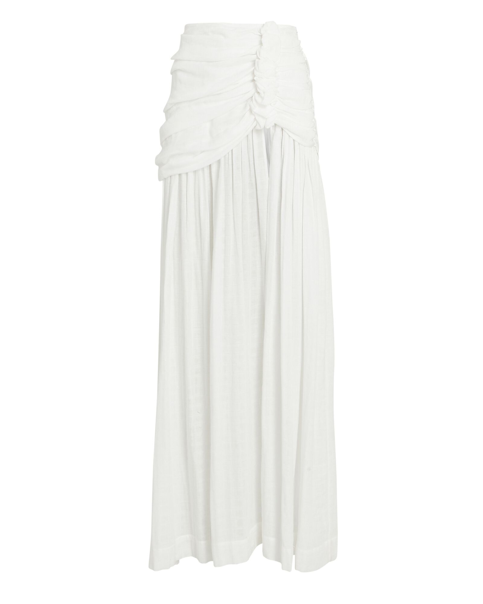 Bianca High Slit Maxi Skirt, WHITE, hi-res