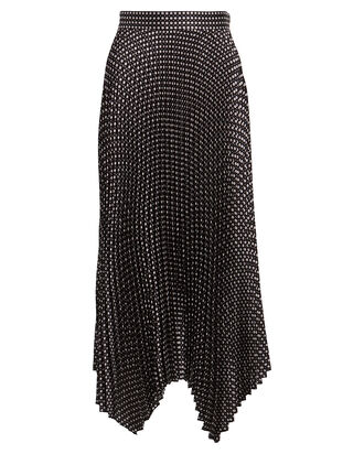Bella Printed Midi Skirt, BLACK, hi-res