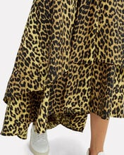 Leopard Print Wrap Dress, YELLOW/BLACK, hi-res