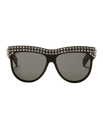 Swarovski Studded Sunglasses, BLACK, hi-res