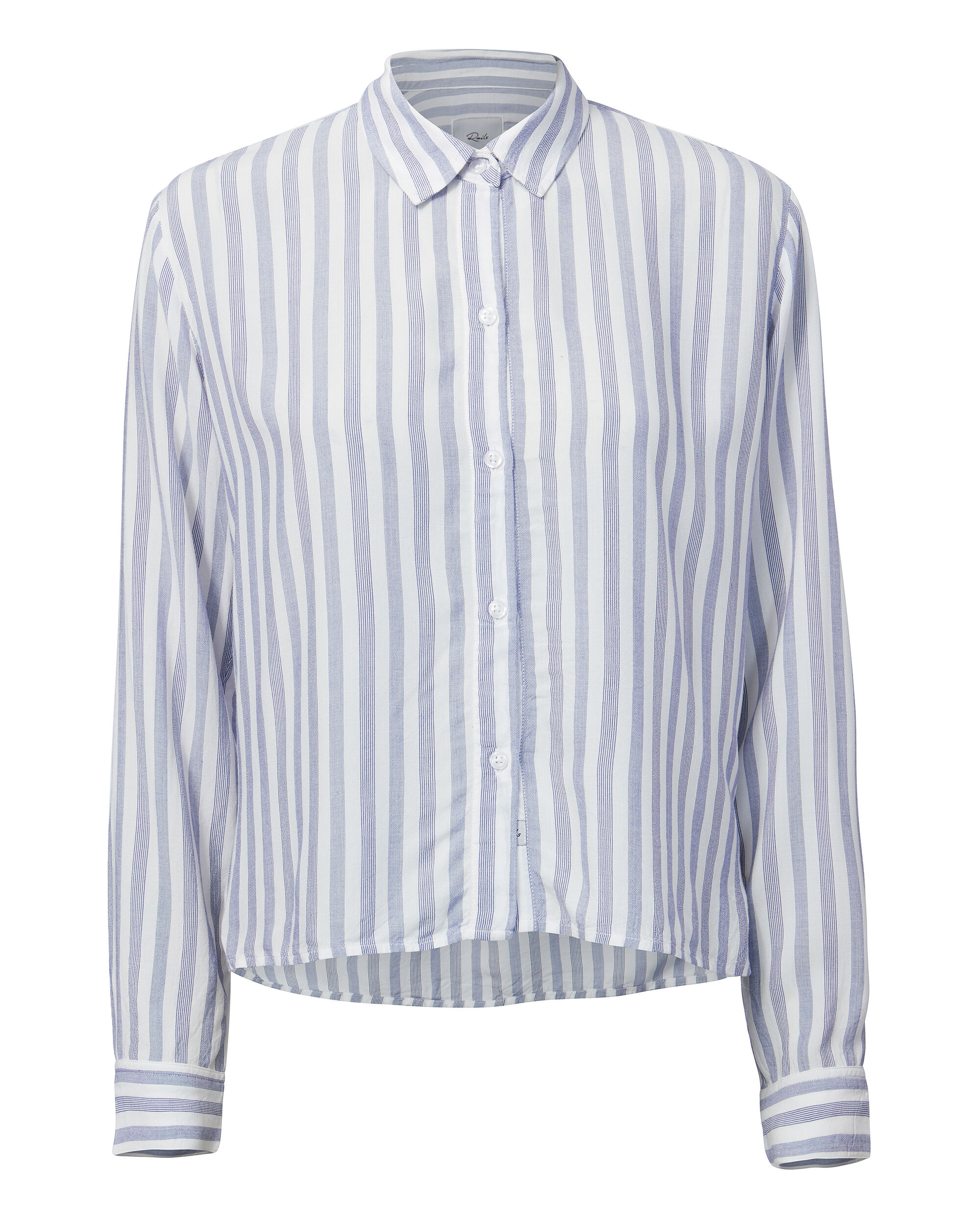 Audrey Bermuda Striped Top, WHITE/BLUE, hi-res