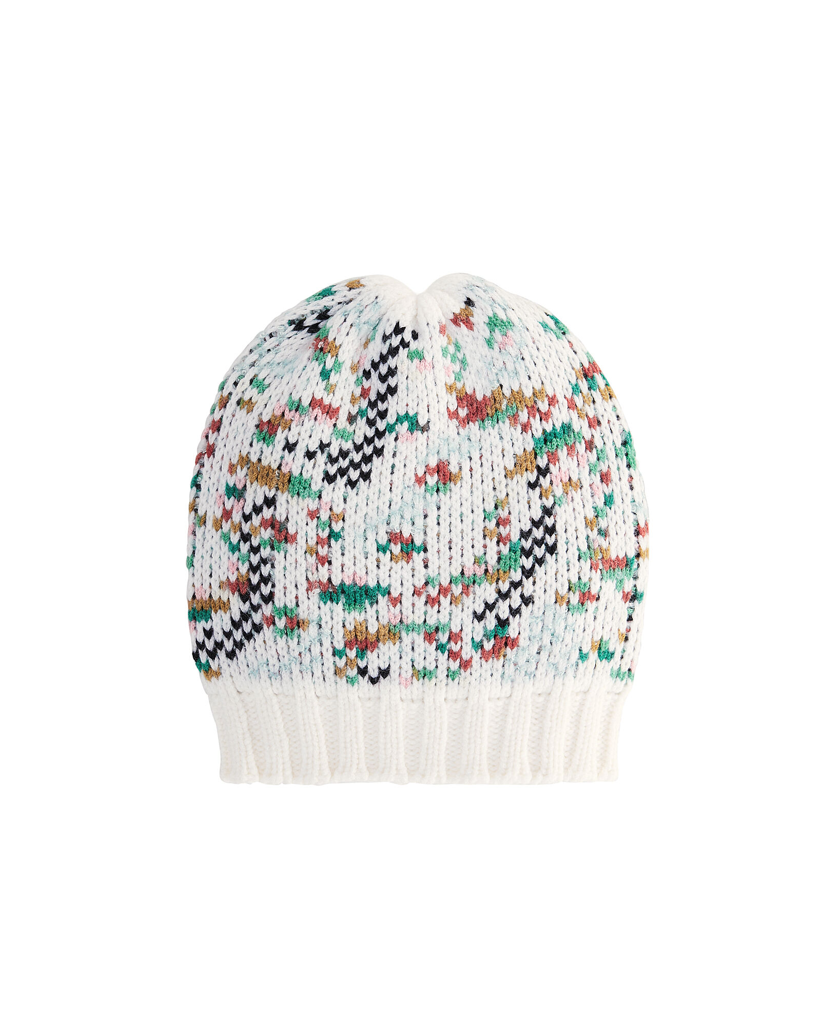 Knit Cold Weather Hat, RAINBOW/WHITE, hi-res