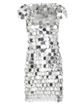 Pastilles Metallic Mini Dress, SILVER, hi-res