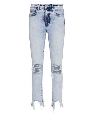 High Line Distressed Skinny Jeans, DENIM-LT, hi-res