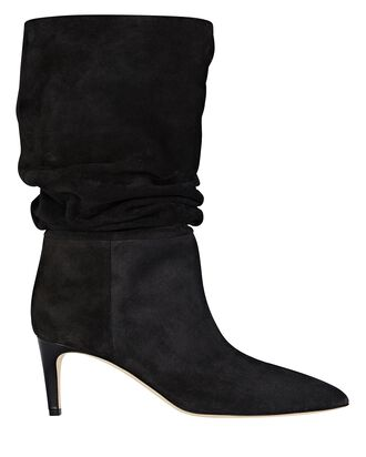 Slouch Suede Ankle Boots, BLACK, hi-res