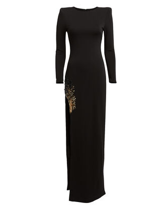 Gia Sequin Embellished Gown, BLACK, hi-res