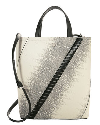 Hex-Embossed Whipstitch Tote, GREY, hi-res