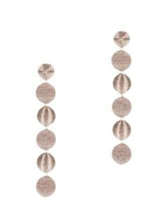 Pewter Gumball Drop Earrings, GREY, hi-res